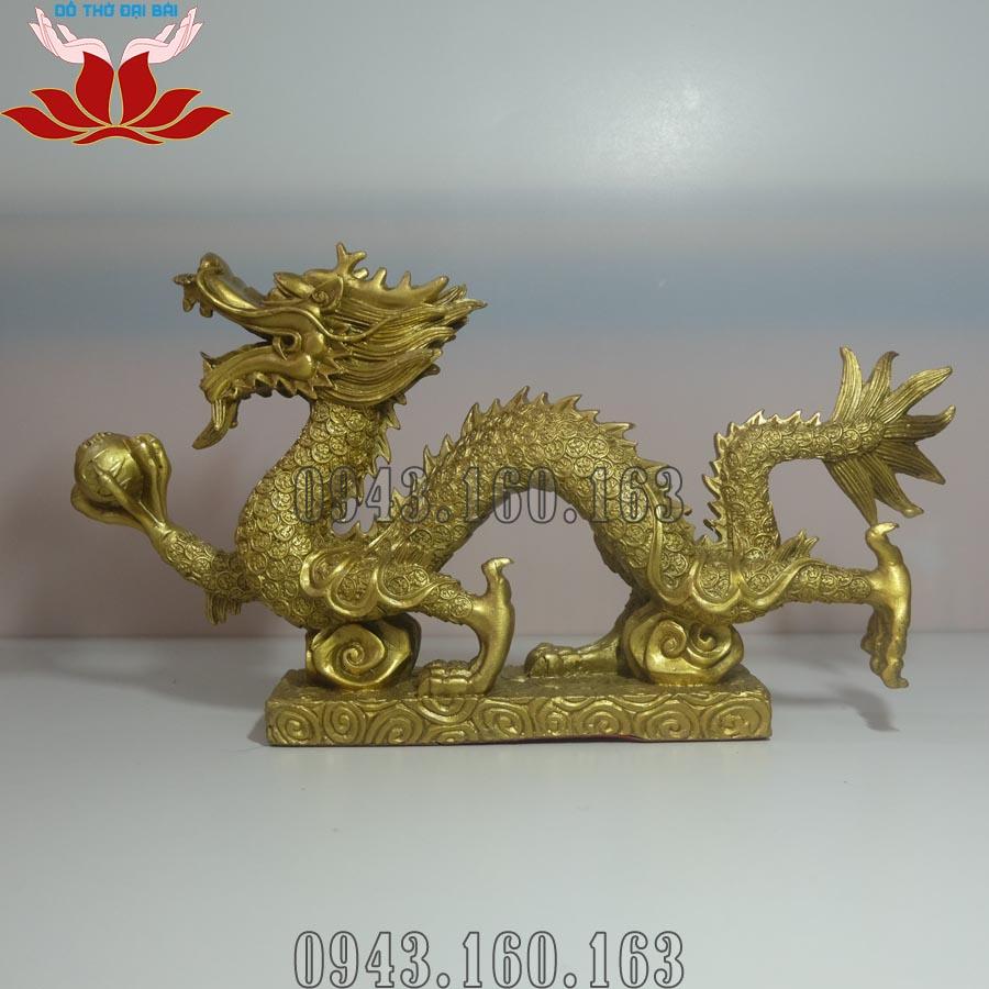 Chi tiết hình ảnh tượng rồng phong thủy bằng đồng vàng
