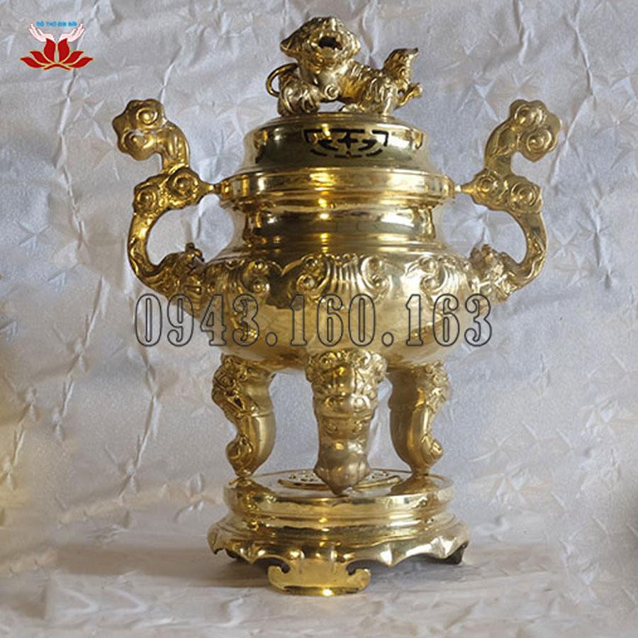 Lư Hương Đồng Đỉnh Hoa Sòi